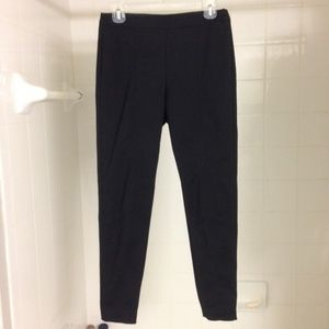 St. John Cropped Slim Black Pants Ankle Zippers 4